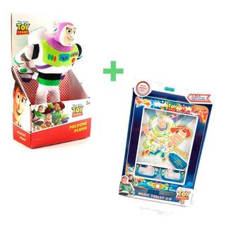 Combo Peluche Buzz Lightear 30 Cm+ Toy Story Tabla Mágica3d
