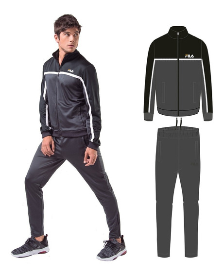 Agasalho Masculino Fila Block (jaqueta + Calça)