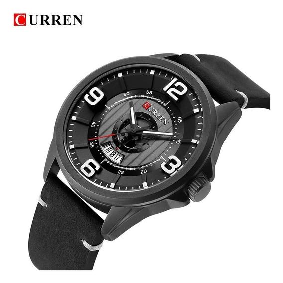 Relógio Masculino Correia De Couro Curren Original 8305