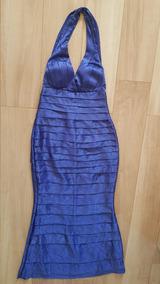 Vestido Azul Bic Tafetá Longo Madrinha