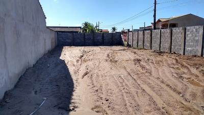 Terreno Com Muro E Aterrado Lado Praia Itanhaém Litoral Sp