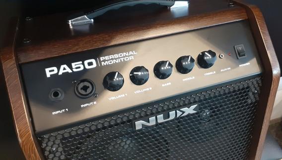Amplificador De Guitarra E Violão Nux Pa-50 Personal Monitor