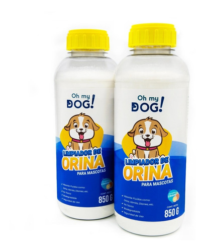 Imagen 1 de 6 de Oh My Dog- 2 Pzs De 850 (limpiador De Orina De Perro)