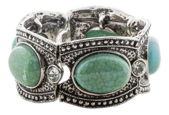 Bracelete Aysha Turquesa Prata