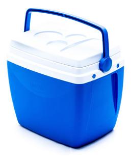 Caixa Térmica Azul 26 Litros Mor Com Alça Porta Copos