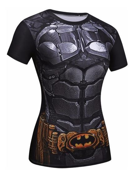 Camisa Fitness Feminina Batgirl (batman) Preta