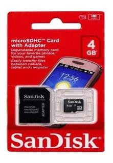 Kit 6 Cartão Memoria 4gb Microsd Microsdhc Microsdxc Sandisk