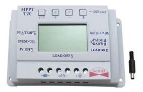 Controlador De Carga 20a - Mppt - 12v/24v - Lcd Completo