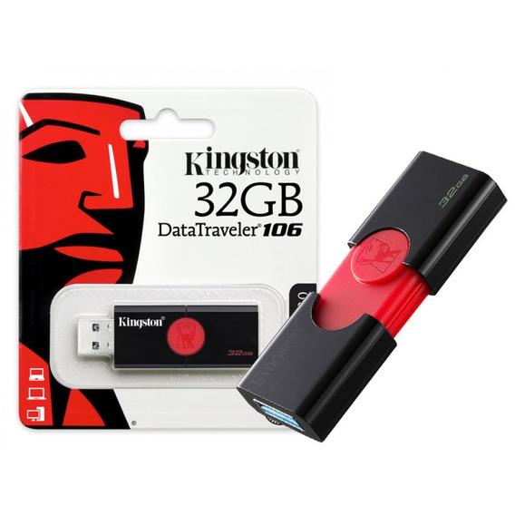 Pen Drive Kingston 32gb Usb3.1 Data Traveler Dt106/32gb Pt