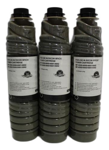 Imagen 1 de 1 de Kit 3 Toner Para Ricoh Mp 3500/4000/4001/4002/4500/5000/5001