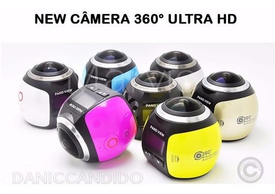 Câmera 360° Ultra Hd + Acessórios. Pronta Entrega