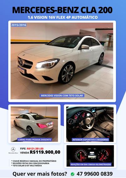 Mercedes-benz Cla 200 R$119.900,00 Unico Dono