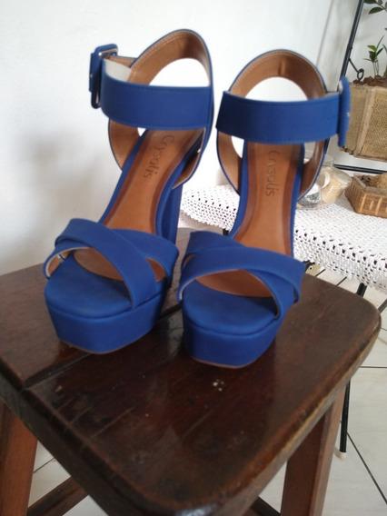 Sandália Meia Pata Azul Royal Crysalis