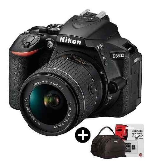 Nikon D5600 Camara Reflex Full Kit Lente 18-55mm + 32gb C10