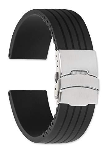 Correa De Reloj De Caucho Oris Style Divers Broche - 22mm