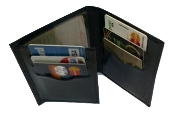 Carteira Masculina Porta Documento Cartões Cnh E Dinheiro R3