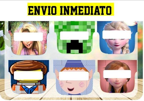 Kit Imprimible Mascaras Infantiles Listas Para Imprimir