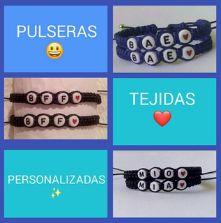 Pulseras Tejidas Personalizadas - 8.000 El Par