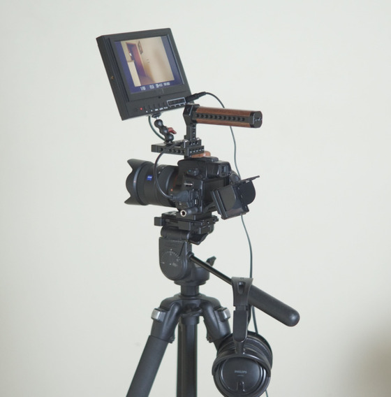 Kit Top Completo Monitor Cage Camera Sony Zeiss