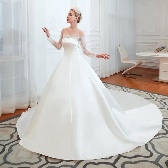 Hermoso Vestido De Novia Blanco O Ivory Tallas Extras