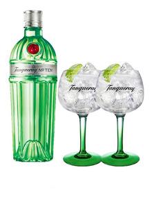 Combo Gin Tanqueray Ten 750ml + 2 Taças Tanqueray