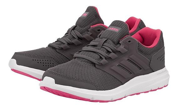 Tenis Running Dama adidas Galaxy 4 Cp8837 Gris/rosa Original