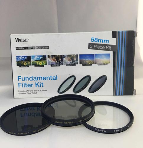 Filtros Vivitar Uv 58mm