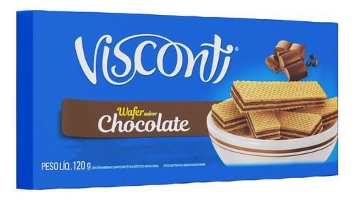 Biscoito Wafer Recheio Chocolate Visconti 120g