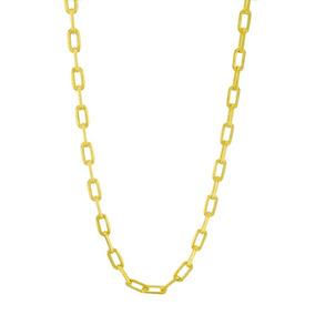 Corrente Gomo Modelo Cartier 45 Cm Banhada Em Ouro Amarelo 1