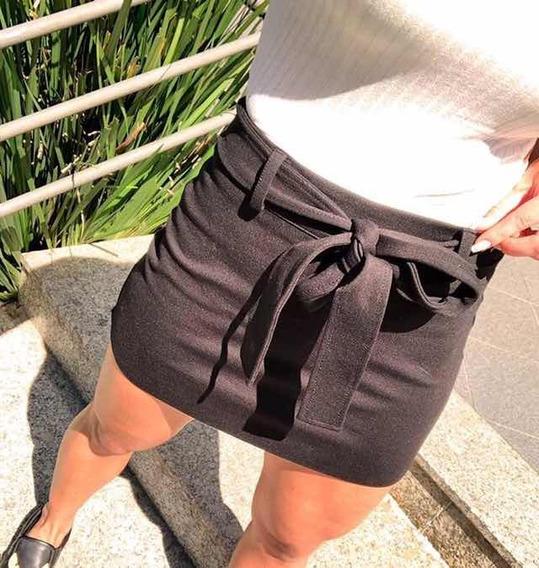 Shorts Saia Feminino Moda Tendência Blogueira Groovy Forever