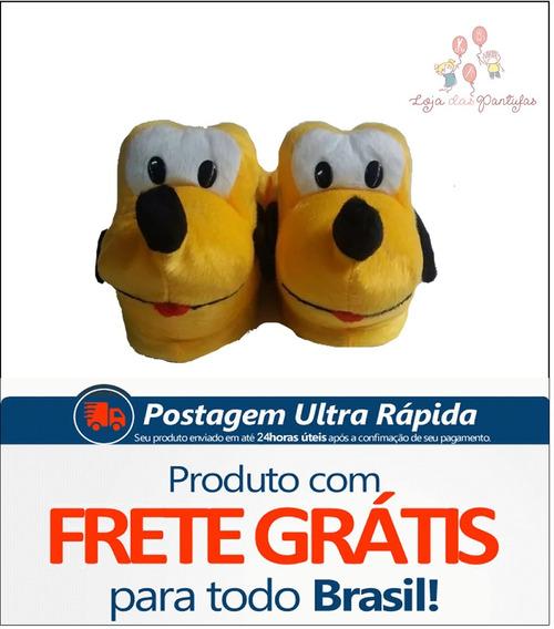 Pantufas Pluto Unisex Disney Adulto Infantil Frete Gratis