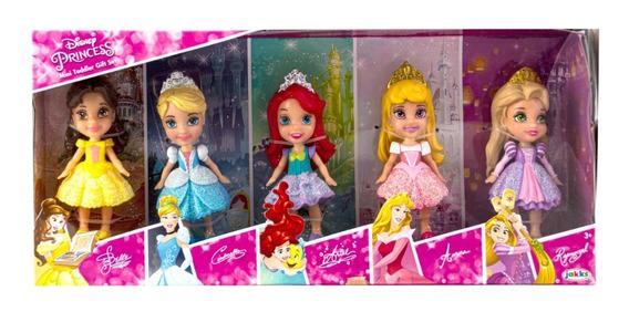 Set X 5 Muñecas Mini Toddlers - Princesas