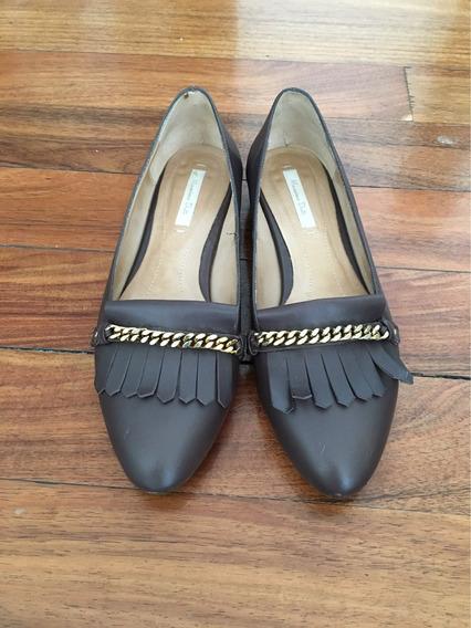 Zapatos De Piel Massimo Dutti 24.5