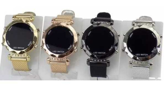 Kit Com 10 Relógios Femininos + Caixa Atacado