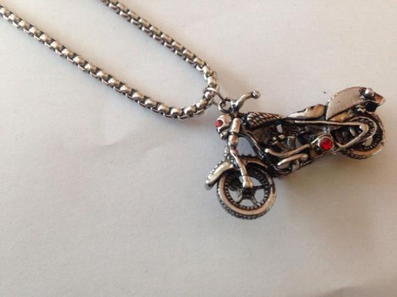 Colar Motociclista Fantasma - Banhado A Prata