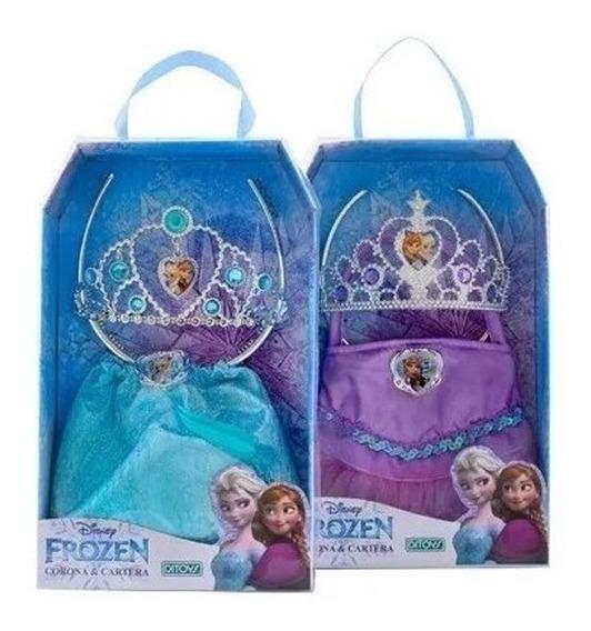 Set De Frozen Corona Y Cartera