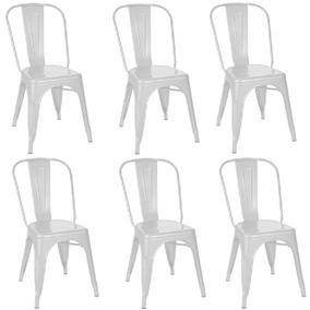 Kit 6 Cadeiras Tolix Branca