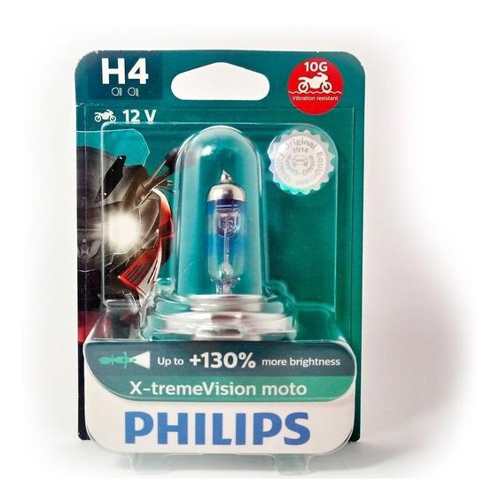 Lâmpada Xre 300 Cb 300 H4 Philips Xtreme Vision Moto 60/55w