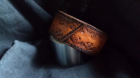 Bracelete Pulseira Cuff De Couro Nove13