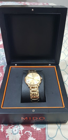 Relógio Mido Slim Dourado Masculino 40mm