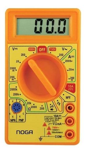 Imagen 1 de 5 de Tester Digital Noganet Dt-830d Con Buzzer 2000 K Ohm