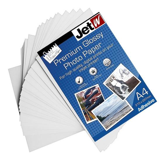 200 Folhas Papel Premium Glossy Adesivo A4 180g Prova D