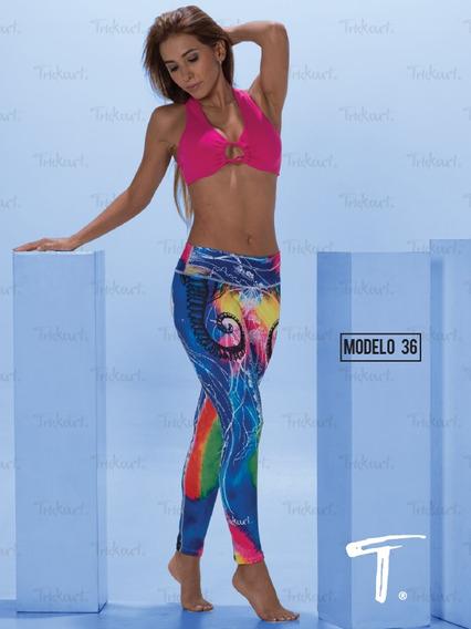Leggins Deportivos Colombianos Leggins Mujer Yoga Pilates 36