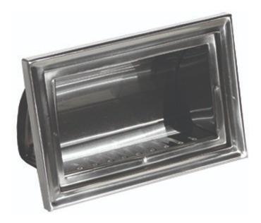 Meia Saboneteira De Embutir Aço Inox Sem Porta - Novo Inox
