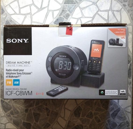 Radio Reloj Despertador Sony Am Fm Stereo Control Remoto