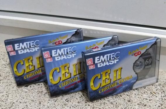 3 Fitas K7 Basf Chrome Extra 2 Lacradas Frete Grátis :)