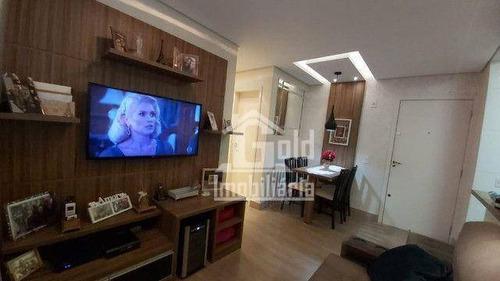 Imagem 1 de 15 de Apartamento Com 2 Dormitórios À Venda, 47 M² Por R$ 220.000 - Parque Industrial Lagoinha - Ribeirão Preto/sp - Ap4597