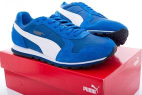 68b24724 Tenis Puma De Gamuza Azul - Ropa, Bolsas y Calzado en Mercado Libre ...