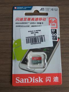 Micro Sd Sandisk 64gb A1 100mb De Lectura