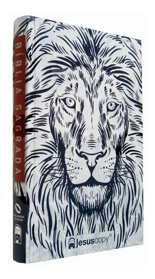 Bíblia Leão Branco Jesus Oficial Copy Capa Dura Naa